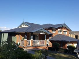 Roof undergoing restoration in Greystanes located in Sydney's Western suburbs
